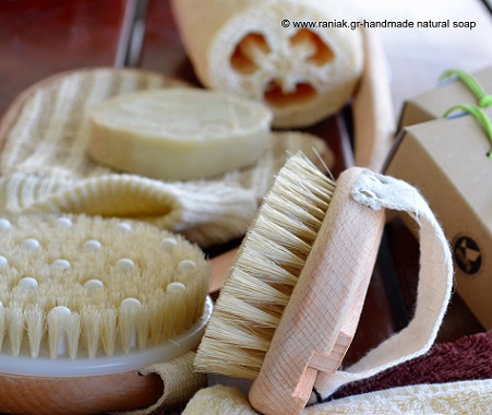 dry brushing Rania K handmade natural soap ccc